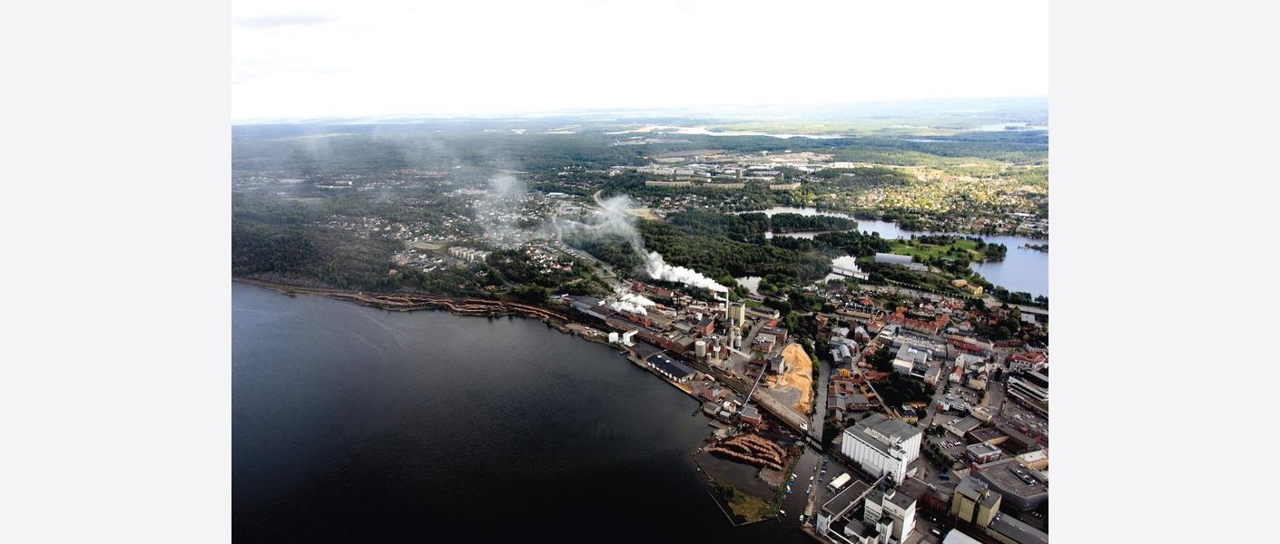 Verket før nedleggelse av fabrikken. Foto: Moss Kommune