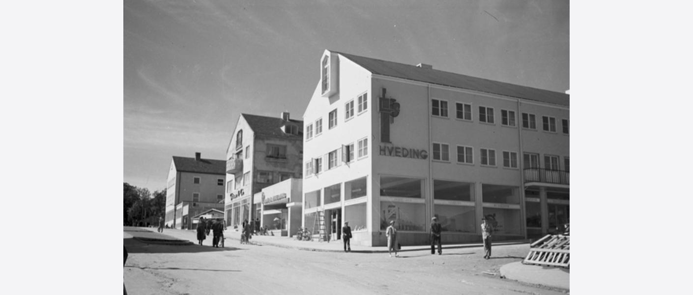 Foto: Fra Løkka, 1949. Kilde: Schrøder, Sverresborg Trøndelag Folkemuseum