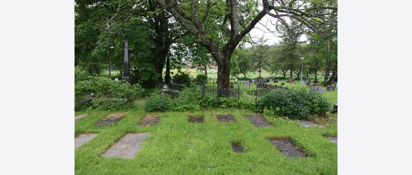 Helhetlig gravmiljø. Bodin kirkegård. Foto: Asplan Viak