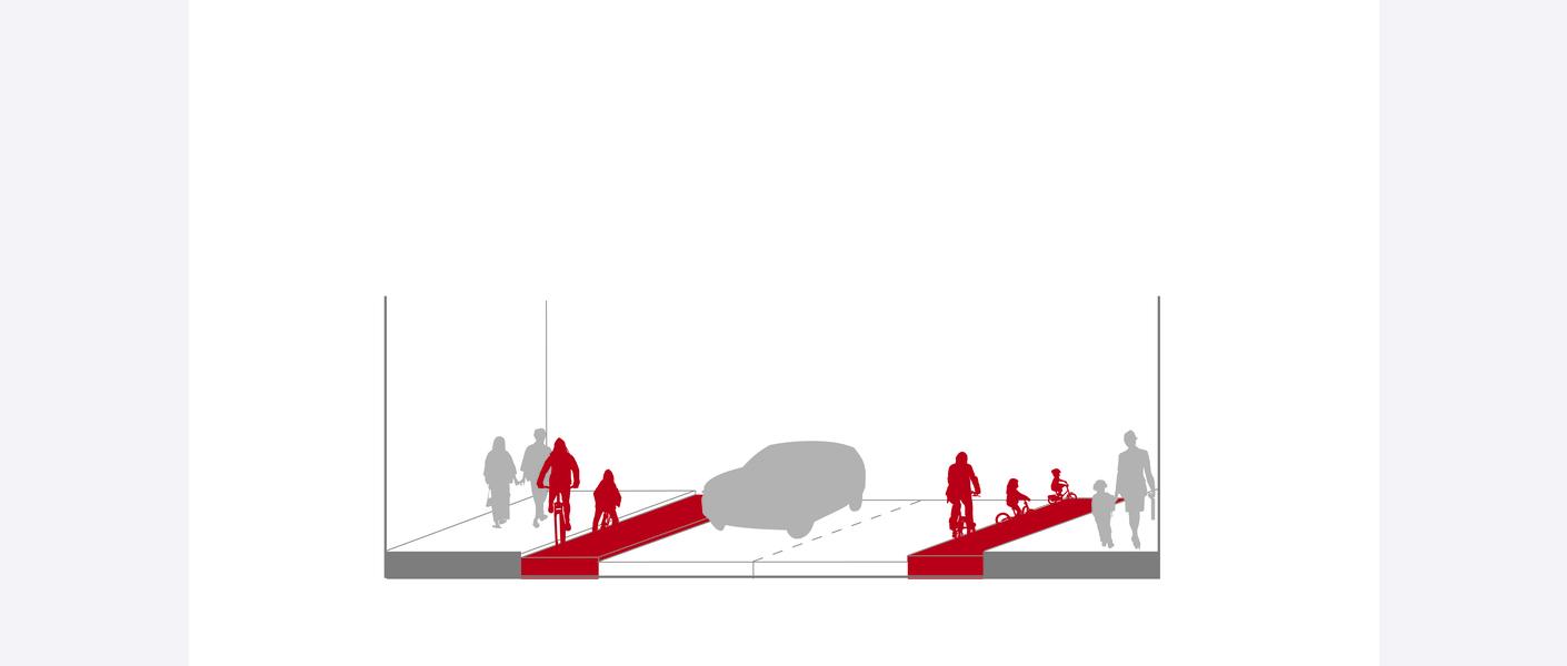 Opphøyd sykkelfelt er et sykkelfelt i eget nivå, adskilt fra øvrige kjørefelt og fra fortau med kantstein og høydeforskjell. Opphøyd sykkelfelt anlegges som tosidig løsning og syklende skal bare bruke det opphøyde sykkelfeltet på høyre side av vegen.