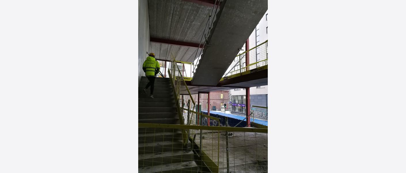 Byggeplass, trapp. Foto: Asplan Viak