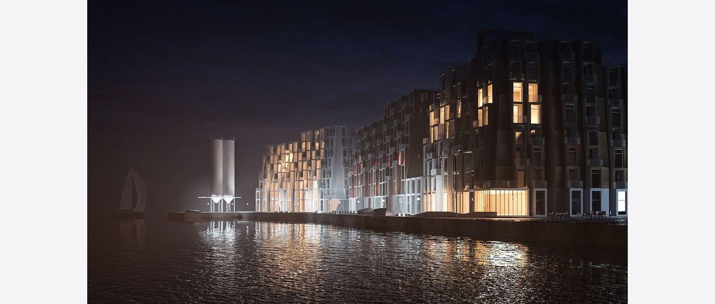 Norsjøryggen natt. Illustrasjon: Asplan Viak / MAD / Adrian Ukleja