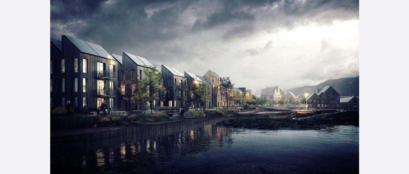 Sørevågen. Illustrasjon: Asplan Viak / Mad Arkitekter