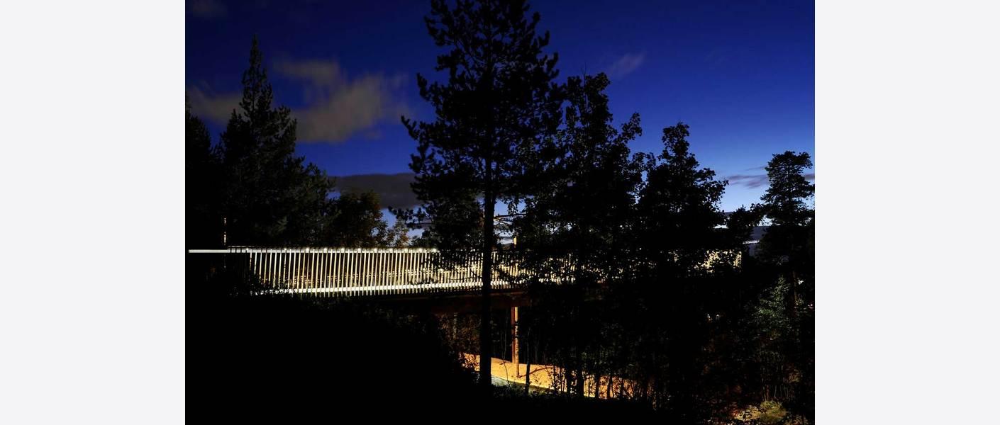 Ny gangbro i kryssingen av Ytre Ringvei. Foto: SAAHA AS