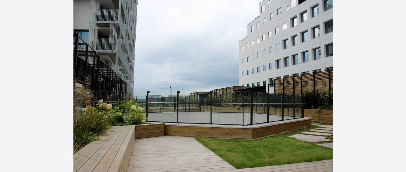 Fellesområder på taket i 4. etasje A. Foto: Lars Danielsson