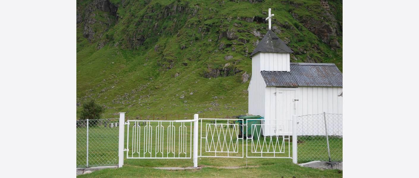 Eksempel, verne port med lokale kvaliteter. Foto: Unstad kirkegård