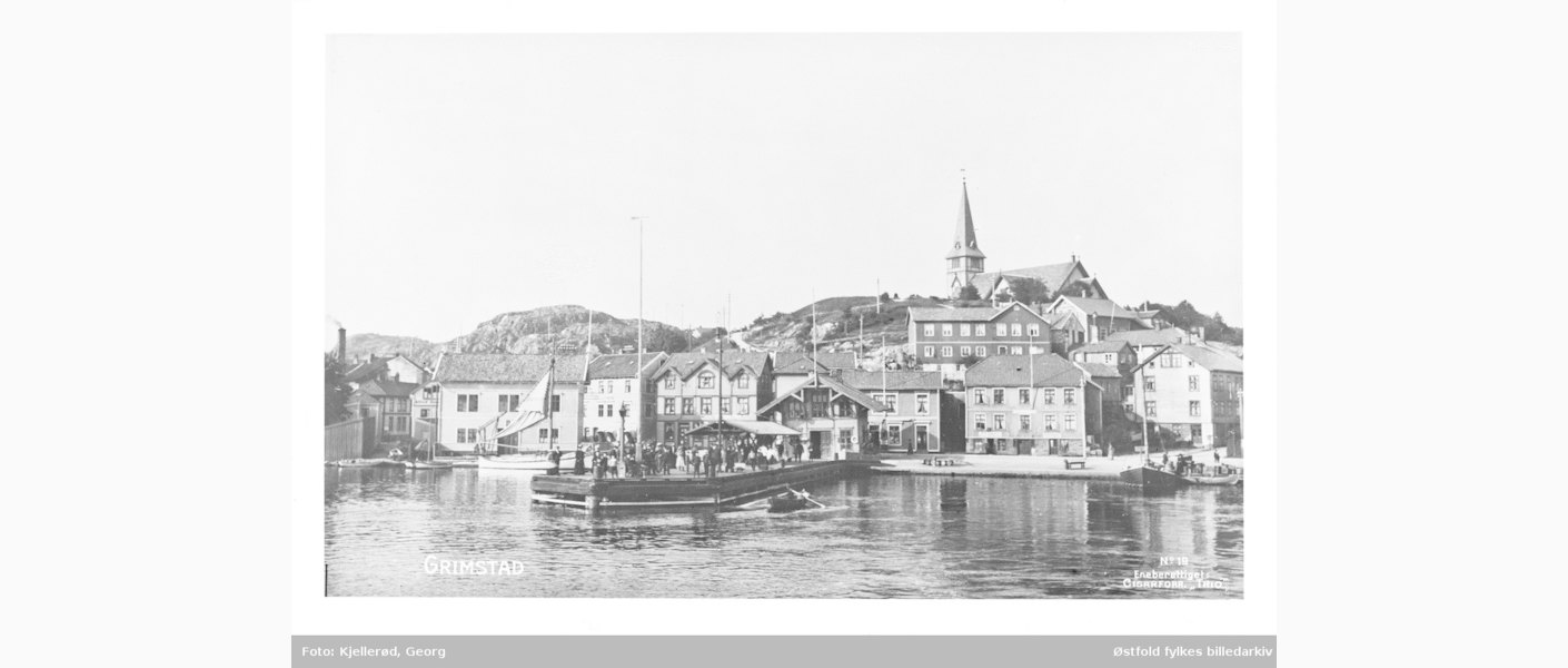 Smith Petersens brygge i Grimstad. Foto: Digitalt museum