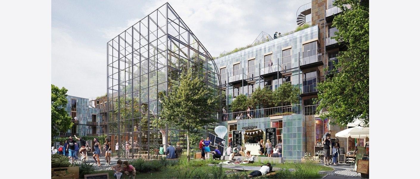 Bakhage. Illustrasjon: MAD arkitekter, Asplan Viak og Landskap +.