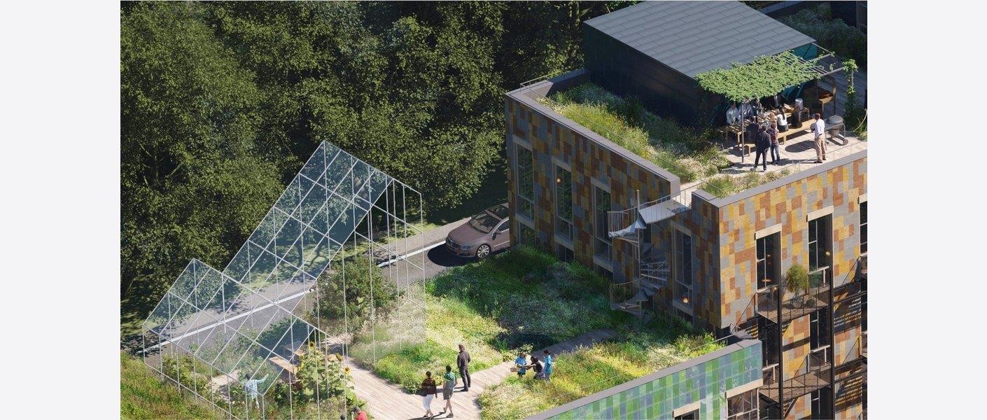Takhage. Illustrasjon: MAD arkitekter, Asplan Viak og Landskap +.
