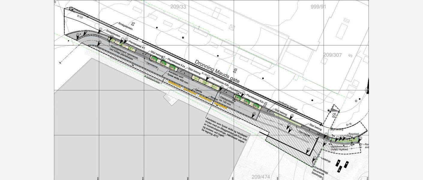 Plantegning av prosjektet. Illustrasjon: Asplan Viak