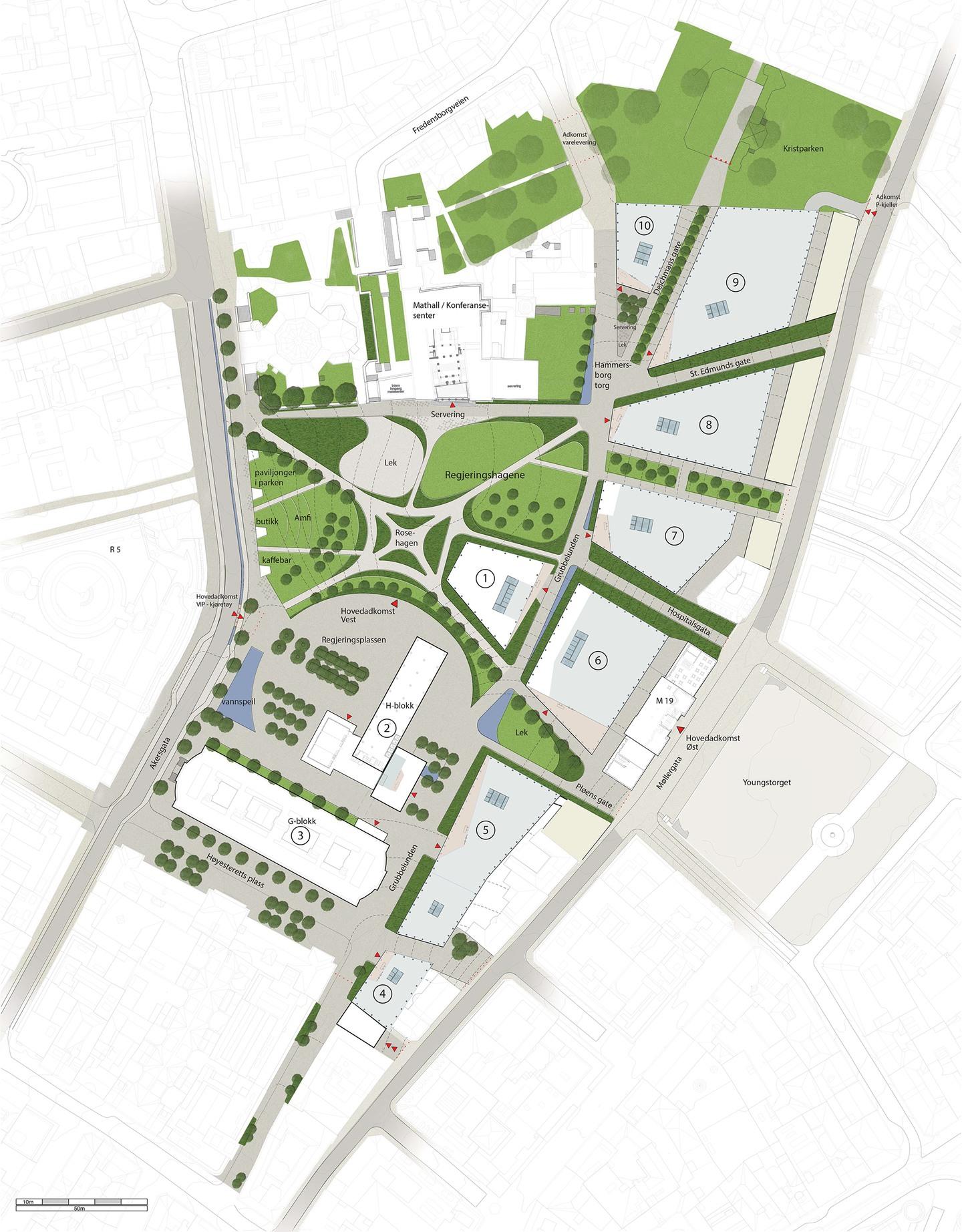 asplan viak kart Det nye regjeringskvartalet   Er det mulig å sikre en by mot  asplan viak kart