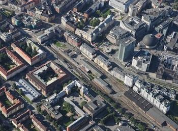Majorstuen sporområde - fra barriere til levende by