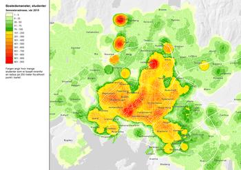 Asplan Viak har kartlagt Oslo-studentenes bosettingsmønster; Studenten viktig for byutviklingen