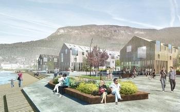 Den urbane fjordlandsbyen Sandane