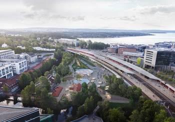 Asplan Viak, Arup og Longva arkitekter skal utforme ny T-banestasjon på Lysaker