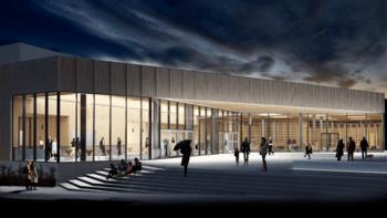 Torget i Aukra – nytt kulturhus og badeanlegg til Asplan Viak