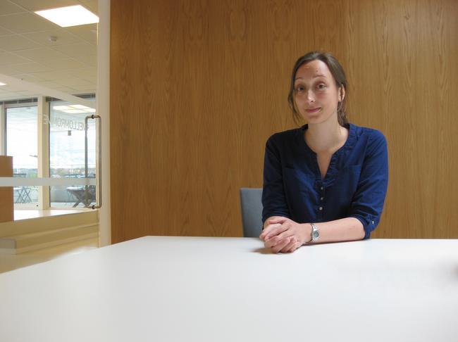 Marianne Lindau Langhelle jobber somBy- og regionplanlegger/GIS-ingeniør hos Asplan Viak.  Foto: Asplan Viak