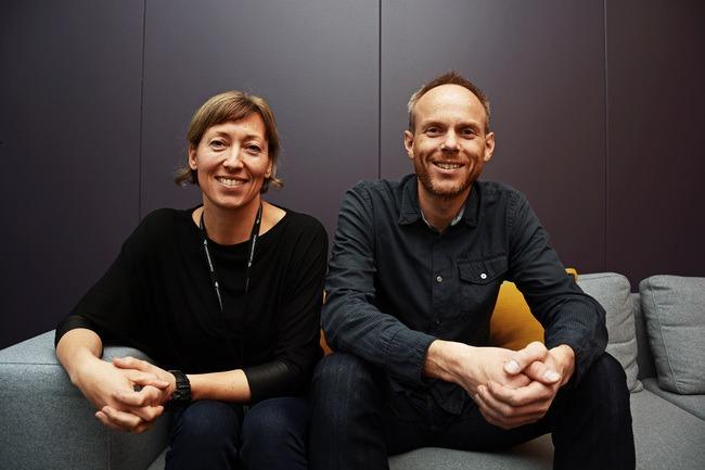 Geir Tore Møgedal i Asplan Viak og Bodil Motzke i Undervisningsbygg jobber sammen mot plusshus og nullutslippsbygg. Foto: Undervisningsbygg Oslo KF.