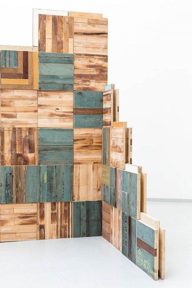 Byggeblokker i returtre produsert i prosjektet Nordic Built Component Reuse