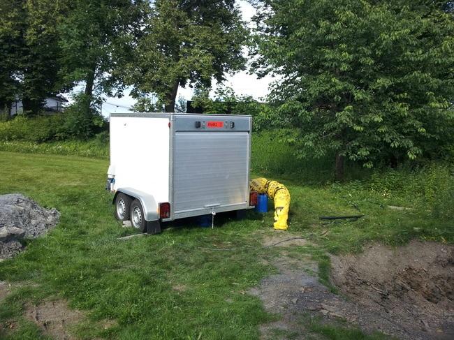 Asplan Viaks utstyr for termisk responstest. Foto: Asplan Viak.
