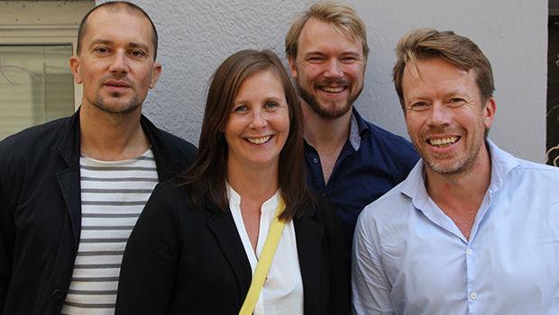 Fra venstre Giambattista Zaccariotto, Janicke Ramfjord Egeberg, Kim Haukeland Paus og Rune Skeie. Foto: Hanne Jonassen
