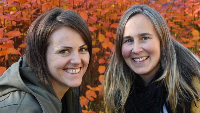 Borghild Teigland Folkedal,  (t.v.) og Martina Bergh Svedahl hadde i år æren av å være møteleder under fagtreffet. Foto:Odd Borgestrand.