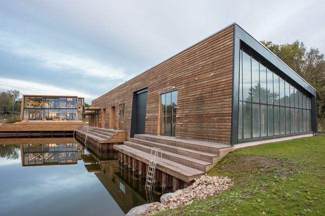 Redningsselskapets kurs- og konferansesenter i Horten, RS Noatun hvor Asplan Viak har RIByFy, er nominert til prestisjeprisen Årets Bygg 2017. Foto: Caroline Smith.