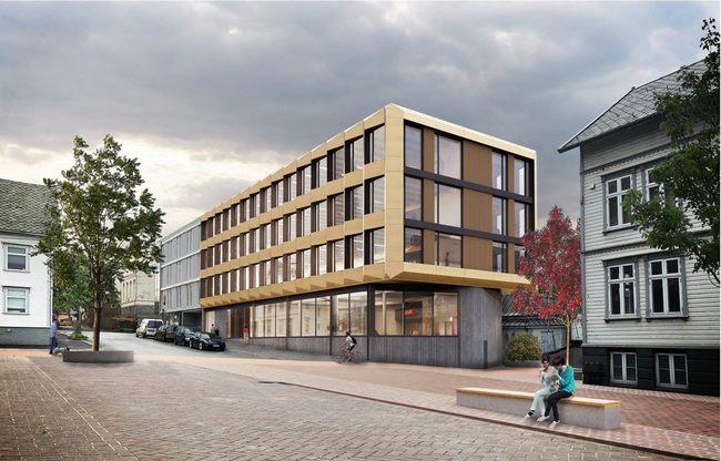 Nybygg i Haugesund: Asplan Viak prosjekterer et BREEAM Excellent sertifisert kontorbygg på oppdrag fra Breidablikkgården Eiendom AS ved Magne Sundve og Olav Sæbø.