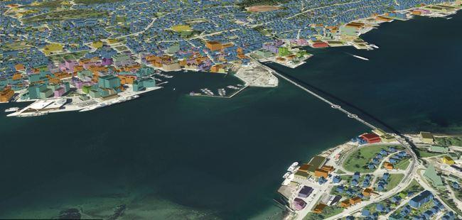 GIS-modell Tromsø. Illustrasjon: Asplan Viak