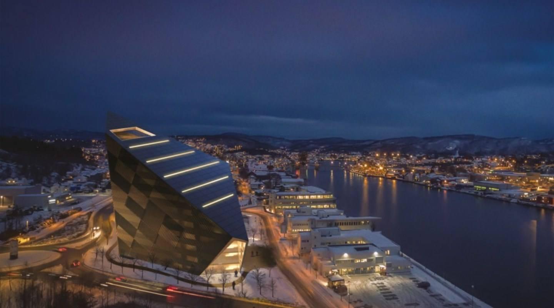 Powerhouse Telemark. Illustrasjon: Snøhetta