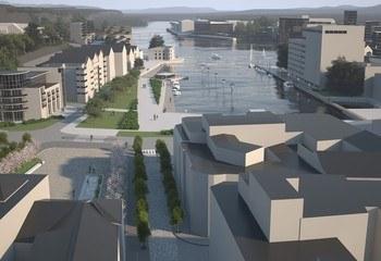 Illustrasjon av kommunedelplan Skien sentrum