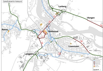 Sykkelplaner for Kongsberg, Øvre Eiker og Lier