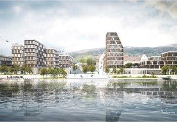 Slik vil vi gjøre havnen til by / Illustrasjon: Asplan Viak og MAD arkitekter