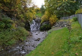 Nye prinsipper for overvannshåndtering / Ilabekken, Trondheim. Foto: Ingvild Aarset / Asplan Viak