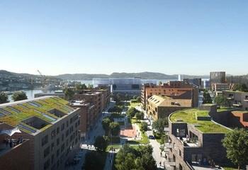 Dokken kan bli det største byutviklingsprosjektet i Norge siden Bjørvika  / Illustrasjon: MIR/MAD/ASPLAN VIAK