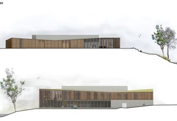Asplan Viak vant arkitektkonkurransen om nytt kultursenter på Kalvild Gård ved Lillesand / Illustrasjon: Asplan Viak