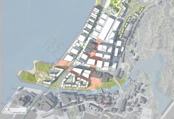 Forutsigbarhet i planprosessen / Illustrasjonsplan Verket Moss viser maksimal utbygging iht. planforslaget. Illustrasjon: Asplan Viak