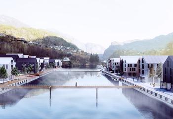 - 30.000 nye innbyggere i Bergensbaneregionen Vaksdal og Voss / Stanghelle. Illustrasjon: Asplan Viak.