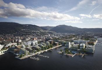 - Vi trenger flere bergensere i Bergen sentrum / Bergen sentrum har mistet innbyggere. I 1950 bodde det 50 000 i sentrum, mot 8 000 i dag. tIllustrasjon: MIR/MAD/ASPLAN VIAK