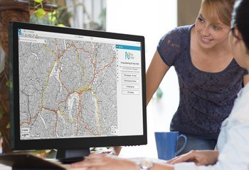 Asplan Viak Internet leverer kartløsning til Nye Veier / Illustrasjon: Asplan Viak