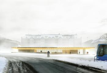 Asplan Viak vant arkitektkonkurranse om ny busstasjon i Kristiansand / Illustrasjon: Asplan VIak