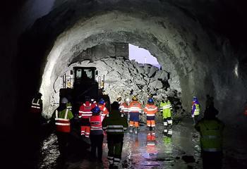 Gjennomslag i ny sykehus-tunnel i Narvik / Gjennomslag i tunnelen som kobler sykehustomten på E6. Foto: Asplan Viak