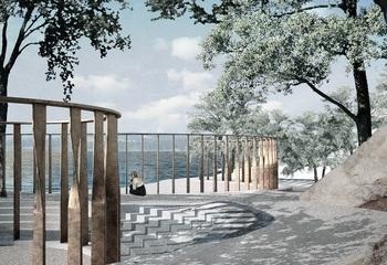 Asplan Viak er planrådgiver på Utøya-kaia / Illustrasjon:  Statsbygg / Manthey Kula Arkitekter