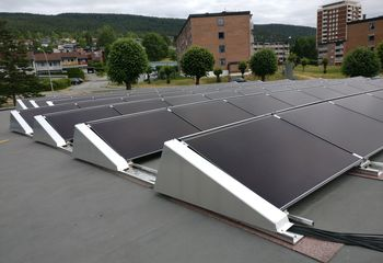 Solcelleanlegg til Åssiden VGS: Norges største testarena for solceller