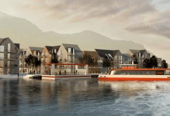 Asplan Viak ser på muligheter for bybåt i Bergen  / Illustrasjon: Asplan Viak