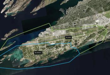Ny bydel Bodø - parallelloppdrag for transformasjon av flyplass / Asplan Viak er med og planlegger en helt ny bydel i hjertet av Bodø. Illustrasjon: Bodø kommune