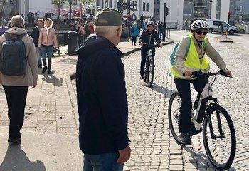 - Vi vil gjøre Ålesund til en av landets beste sykkelbyer! / Asplan Viaks digitale sykkelkart er har løyper for alle, enten det er søndagstur med familien eller du skal ut på langtur. Foto: BraBy