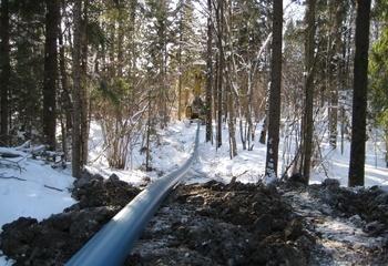 Utblokking av vannledning på Erikstad