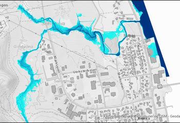 Flom- og vannlinje beregninger - Vestmarka næringsområde